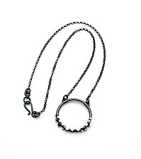 Circle Cube Pendant by Joanna Nealey (Silver Necklace)