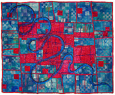 Directions #18 by Michele Hardy (Fiber Wall Art)