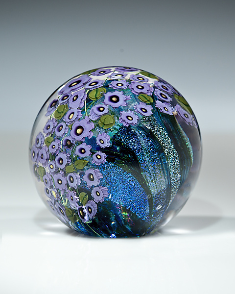 Violets Paperweight