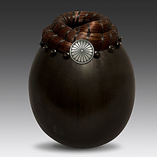 Saddle Concho Vessel by Valerie Seaberg (Ceramic Vessel)