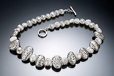 Pebbles and Pearls by Robin  Sulkes (Silver & Pearl Necklace)
