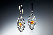 Lantern by Robin  Sulkes (Gold, Silver, & Stone Earrings)