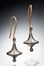 Spinning Top by Robin  Sulkes (Gold & Silver Earrings)