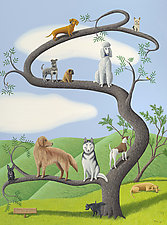 Tree of Dog by Jane Troup (Oil Painting)