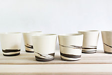 Strata Cups, Set of Two by Julia Paul (Ceramic Mug)