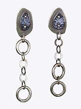 Chain Dangle Earrings by Beth Novak (Enameled Earrings)