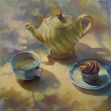 Yellow Tea Pot by Cathy Locke (Oil Painting)