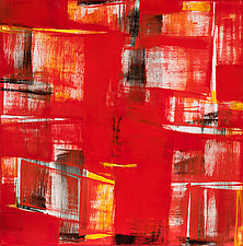 Red Abstract #1 by Lela Kay (Oil Painting)