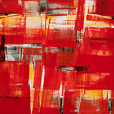 Red Abstract #2 by Lela Kay (Oil Painting)