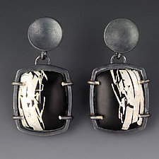 Art Deco Earrings by Jennifer Park (Enameled Earrings)