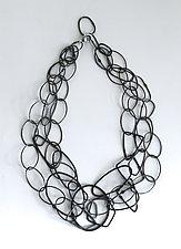 Organica Necklace #12 by Jennifer Bauser (Silver & Bronze Necklace)