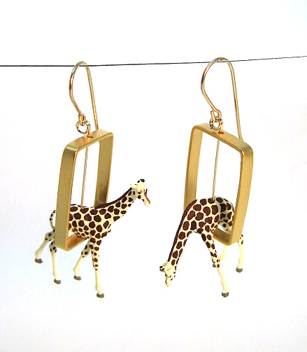Giraffes in Gold Rectangles