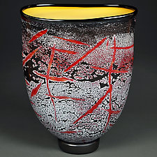 Crimson Contrast by Eric Bladholm (Art Glass Vessel)