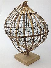 Dew Drop Spiral by Charissa Brock (Art Glass & Bamboo Sculpture)