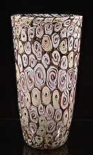 Rose Blossom Murrini Vase by Michael Egan (Art Glass Vase)