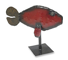 Small Red Fish by Ben Gatski and Kate Gatski (Metal Sculpture)