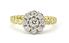 Beady Blossom Ring by Jessica Fields (Gold & Stone Ring)