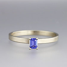 White Gold Tanzanite Ring by Sarah Hood (Gold & Stone Ring)