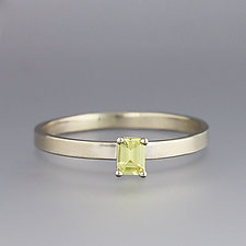 White Gold and Yellow Sapphire Ring by Sarah Hood (Gold & Stone Ring)