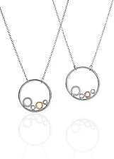 Circles In A Circle by Kennedi Milan (Gold & Silver Necklace)