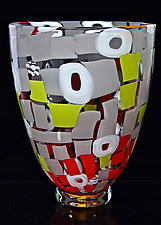 Patchwork Quilt Bowl by Michael Egan (Art Glass Vessel)