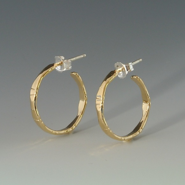 Small Bamboo Gold Hoops