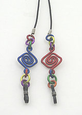 Eyeglass Lanyard in Primary Colors by Sylvi Harwin (Aluminum Eyeglass Lanyard)