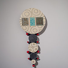 Circle Wall Totem by Vaughan Nelson (Ceramic Wall Sculpture)