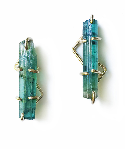 Tourmaline Crystal Earrings I