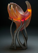High Priest Hemisphere by Brian Russell (Art Glass Sculpture)