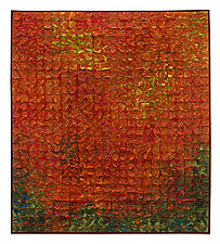Paprika Grid by Tim Harding (Fiber Wall Art)