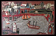 Tall Ships by Pamela Allen (Fiber Wall Art)