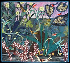 Wonder of Birds II by Pamela Allen (Fiber Wall Art)