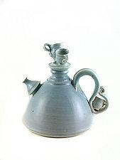 Calming Blue Teapot by Carol Tripp Martens (Ceramic Teapot)