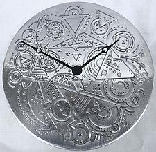 Clockworks by Evy Rogers (Aluminum Clock)