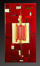 Reactions Red by Vicky Kokolski and Meg Branzetti (Art Glass Wall Sculpture)