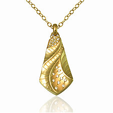 Kite Pendant by Keiko Mita (Gold & Stone Necklace)