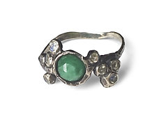 Emerald Cluster Ring by Aimee Petkus (Silver & Stone Ring)
