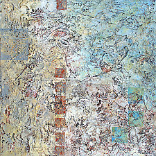 Squiggles and Squares by Nancy Eckels (Acrylic Painting)