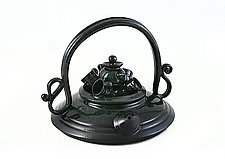 Tea Party Teapot by Carol Tripp Martens (Ceramic Teapot)