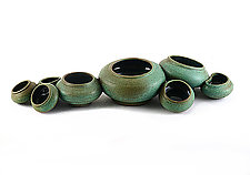 Mini-Bowls Centerpiece by Carol Tripp Martens (Ceramic Sculpture)