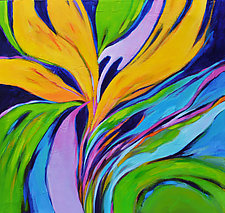Bird of Paradise by Filomena Booth (Acrylic Painting)