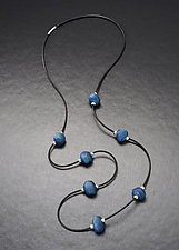 Baroque Bead Rubber Necklace by Eloise Cotton (Art Glass Necklace)
