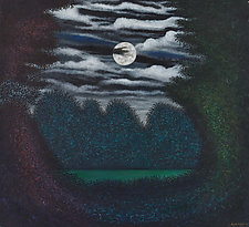 Spring Moon by Scott Kahn (Oil Painting)