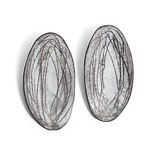 Oval Earrings by Christy Klug (Enameled Earrings)