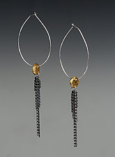 Large Dangle Hoop by Ann Chikahisa (Gold & Silver Earrings)