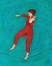 Mom Trick by Brian Kershisnik (Giclee Print)