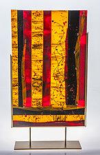 Fire Storm by Varda Avnisan (Art Glass Sculpture)