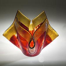 Red Vase by Varda Avnisan (Art Glass Vase)