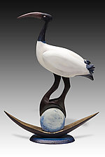 Ibis Moon Barq by Dona Dalton (Wood Sculpture)